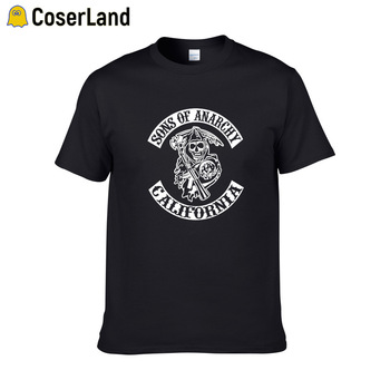 Sons of Anarchy Tees TV SOA Cosplay Costume Men Rock Punk  Plus SizeT-shirts Mayans MC Steampuck Tops T shirt Women Dropshipping - discount item  42% OFF Costumes & Accessories