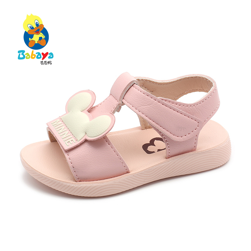 Babaya Girls Sandals Children Baby Shoes 2020 Summer New Small Toddler Bech Shoes Breathable Princess Shoes Soft Sole