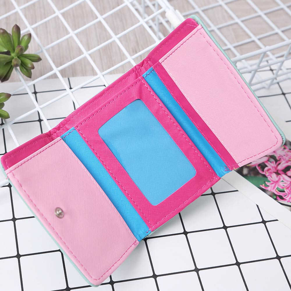 Kadınlar sevimli baykuş baskı cüzdan küçük kız cüzdan marka tasarlanmış PU deri bozuk para cüzdanı kart sahipleri çanta kadın 816