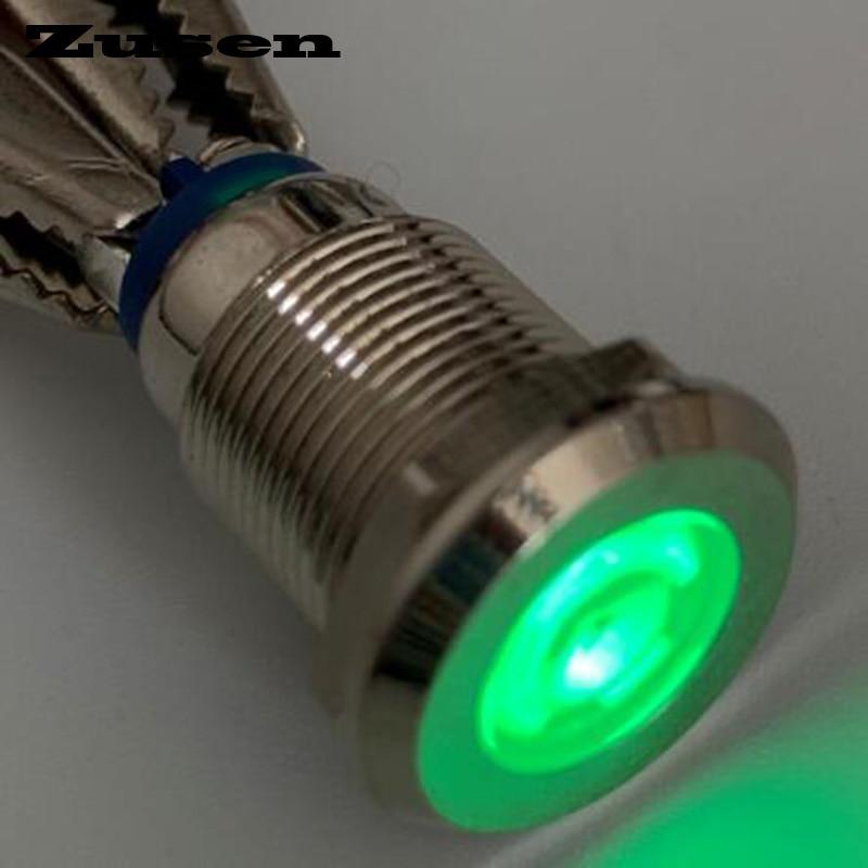 Zusen 12mm 12V 24V 220V  Signal Indicator Lamp(ZS12-D/G/12V/N)