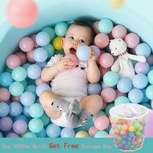 100 шт., экологически чистые пластиковые шарики для бассейна, 5,5 см