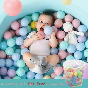Image 1 - 100 pièces écologique en plastique océan vague balles jouet les balles de piscine bébé natation fosse jouets drôle en plein air intérieur Sports enfant jouet 5.5cm