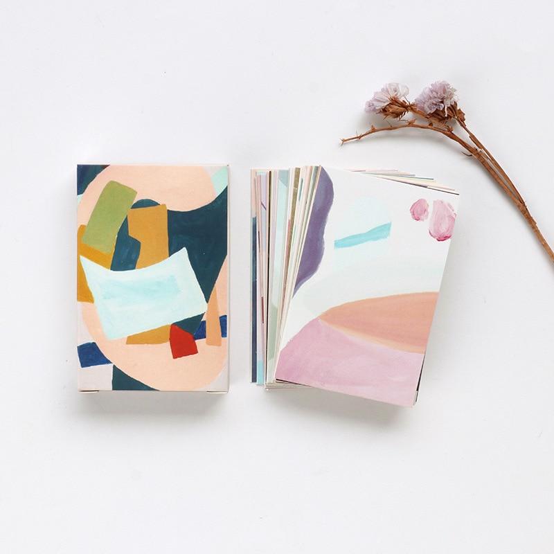 28 Sheets/Set Colorful Life Series Lomo Card Mini Postcard Birthday Gift Card Message Card 52*80mm