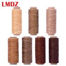 LMDZ плоская Вощеная резьба 150d 50 м, вощеная нить, шнур, портативный шнур для изделий ручной работы «сделай сам», кожаные изделия, вощеная нить, ...