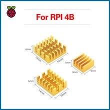 S ROBOT для Raspberry Pi 4B Heat Sink 3pcs Aluminium Heatsink Radiator Cooling Kit Cooler for Raspberry Pi 4 Model B RPI144