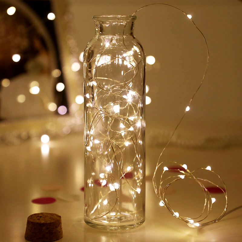 YINUO CANDLE 1/2/3/5/10M Copper Wire LED String Lights Battery Waterproof Fairy Lights Outdoor Indoor Wedding Home Decoration