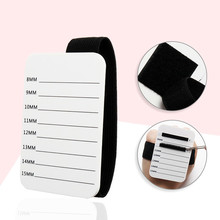 1Set Acrylic Eyelash Pallet with Belt Adhesive Glue Holder Tablets Lashes Extension Professional Portable Makeup Grafting Tools