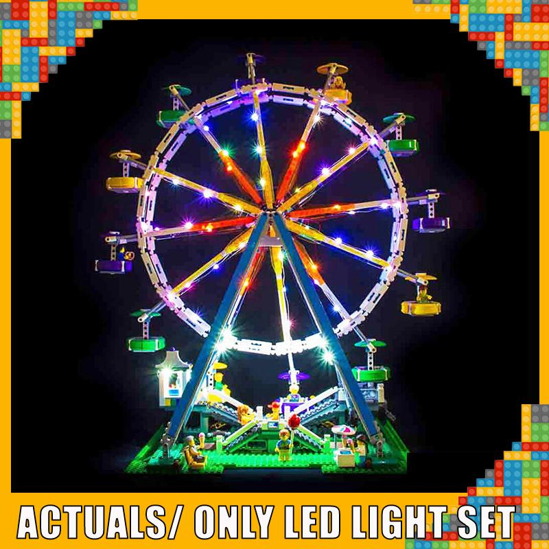 Center led light kit with battery box  for  lego 10247 and   15012   Ferris