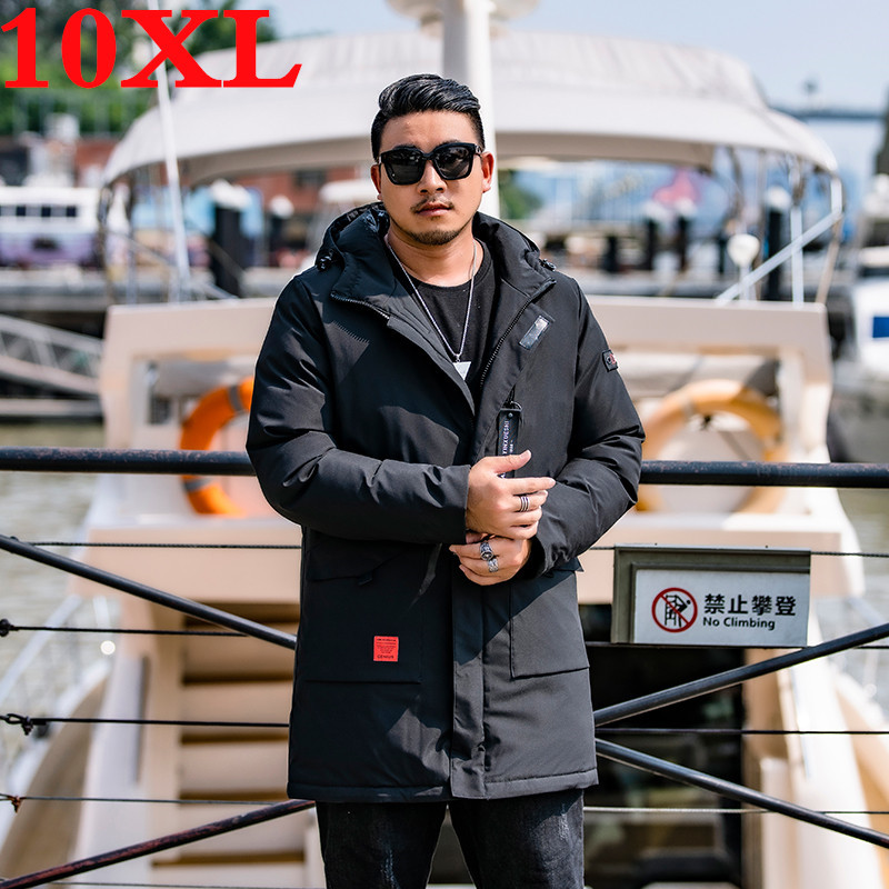 New Plus Size 10XL 9XL 8XL Casual  Men Winter Coat Warm Jacket  Medium Long  Thickening  Windproof Coat For Male Parkers Coat