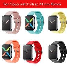 Correa deportiva de silicona para reloj OPPO, repuesto de pulsera de 41mm y 46mm