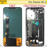 Modelo OLED TFT 2 para Xiaomi mi 8 mi 8 pantalla LCD pantalla táctil para Xiaomi mi 8 digitalizador LCD 6,21 pulgadas de la Asamblea