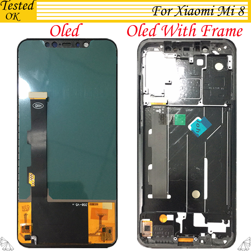 OLED TFT 2 Model For <font><b>Xiaomi</b></font> <font><b>Mi</b></font> <font><b>8</b></font> Mi8 LCD <font><b>Display</b></font> Touch Screen For <font><b>Xiaomi</b></font> Mi8 Digitizer LCD 6.21 Inch Assembly image