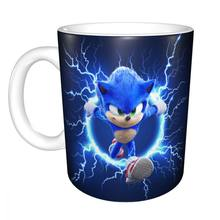 Sonic Glossy Ceramic Coffee Mug Tea Cup for Office and Home Suitable For Dishwasher and Microwave