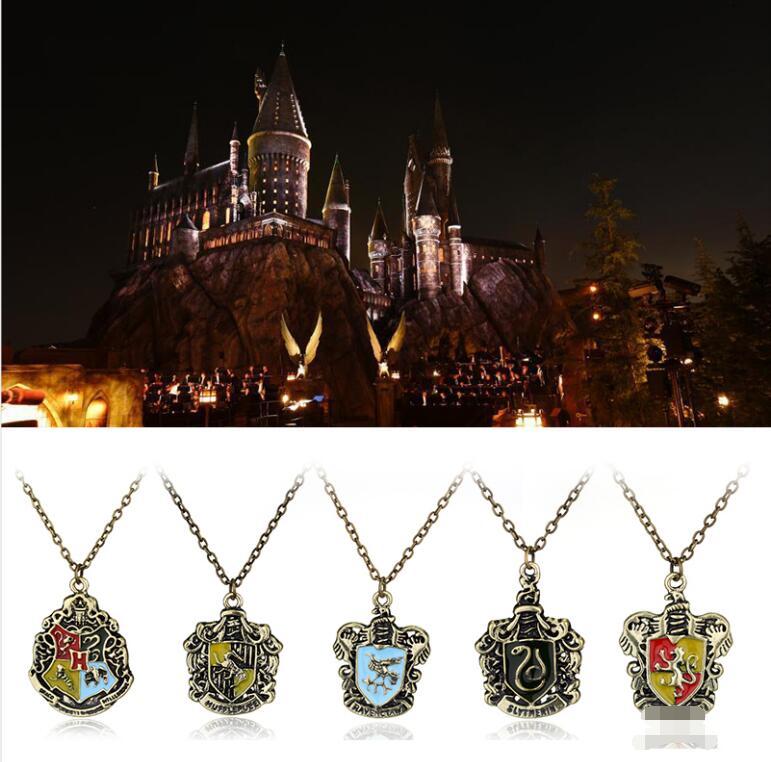 Гарри ювелирные изделия Волшебная Академия значок-подвеска ожерелья винтажные пуффендуй Когтевран Слизерин логотип ожерелье-чокер для F