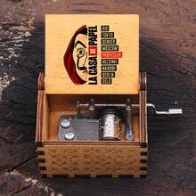 Music-Box Hand-Crank Casa-De-Papel Wooden Birthday-Gift Bella Ciao Christmas Dali Professor-Print