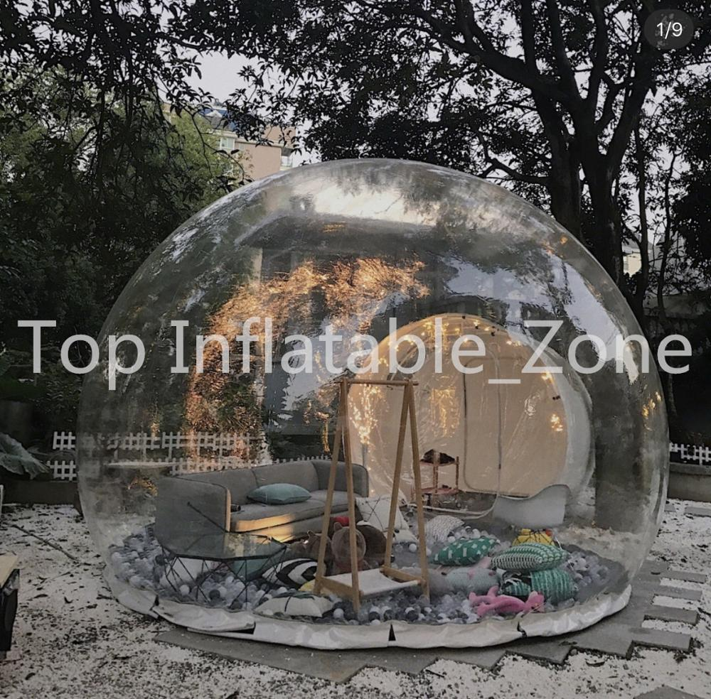 Outdoor Living Tents,inflatable Show House Family Backyard Transparent Tents,inflatable Beach Dome Tents,clear Bubble Tent
