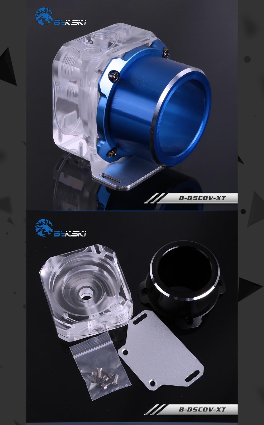 Bykski B-D5COV-XT D5 pump cover/top kit , Armor , High performance , Mute , For D5 Pump , Replace the original cover/top