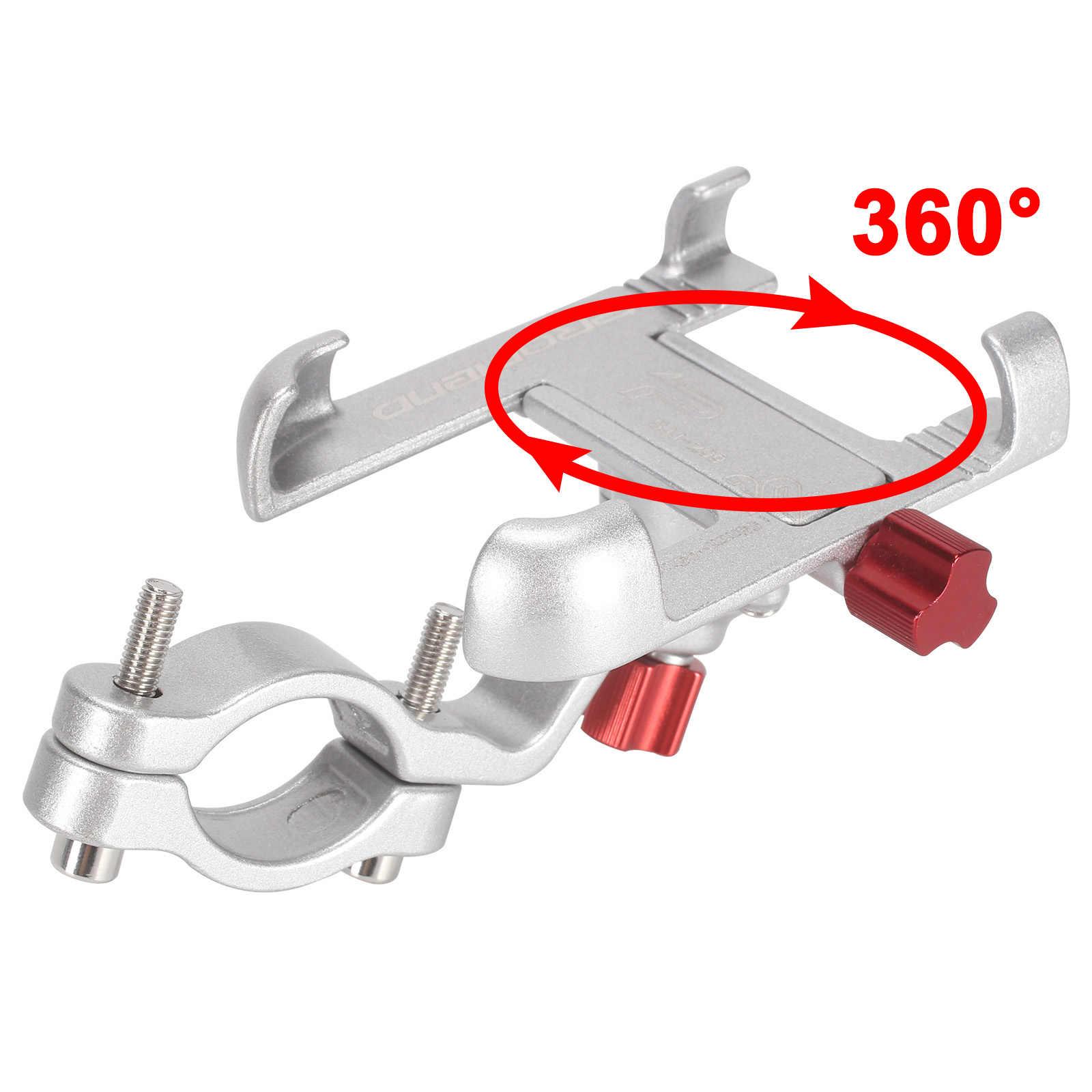 Promend 360 vélo rotatif support pour téléphone Mobile en aluminium réglable porte-vélo anti-dérapant vtt support de téléphone support de cyclisme