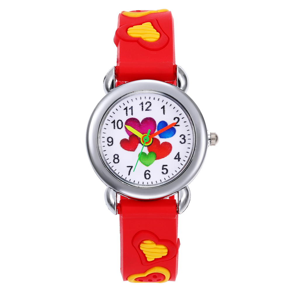 2020 3D Fashion Boys Girls Silicone Watches For Kids Love Cartoon Children Christmas Gift Student Clock Watch Kids Watch Reloj