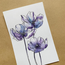 Transparent stamp sketch flower New 2019 Clear Stamps Rubber Silicone Seal for DIY Scrapbooking Card Making Album Decor Crafts