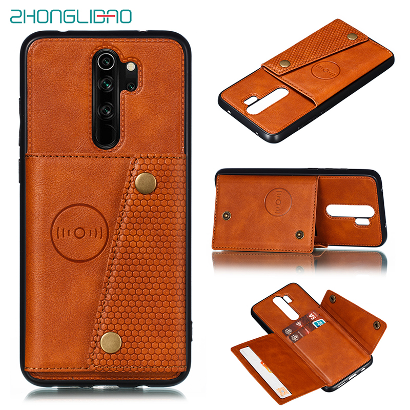 For Redmi Note 7 8 8t 9s Pro max Card Holders Wallet Case Cover for Xiaomi Redmi 9 7a K20 Mi 9t Mi9t k30 Leather Card Magnetic(China)