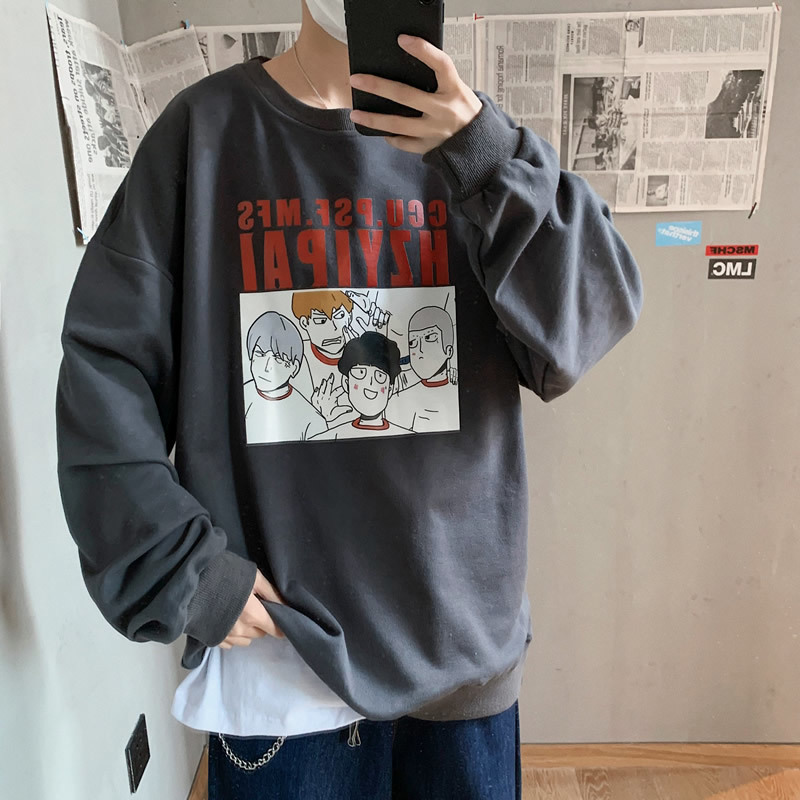 2020 Spring And Autumn New Youth Popular Men's Loose Print Sweatshirt Fashion Casual Round Neck Large Size Pullover S-3XL