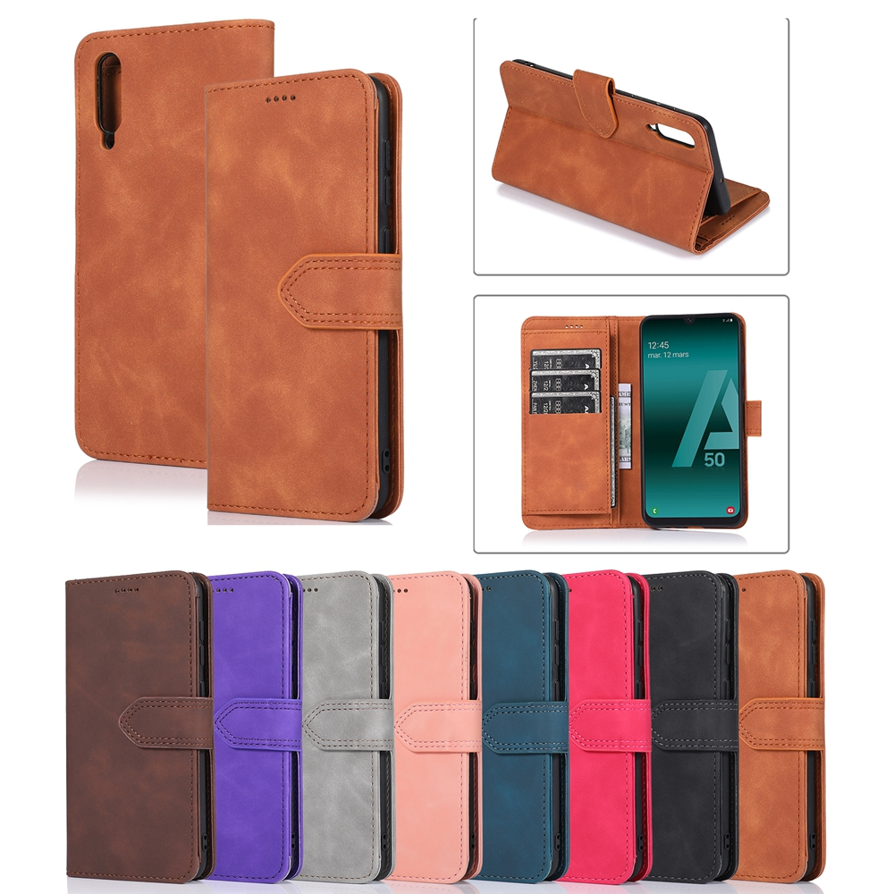 A 30S for <font><b>Samsung</b></font> <font><b>A50</b></font> A50S Case <font><b>Hoesje</b></font> Luxury PU Leather Flip Cover for <font><b>Samsung</b></font> Galaxy A10 A20 A30 A40 A70 S A30S Case Clamshell image