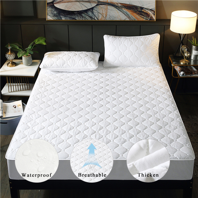 1.8m Mattress Cover Reusable Waterproof Pad Queen King Twin Size Mattress Topper Breathable Anti Dust Mite Washable Bed Covers