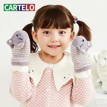 Новинка 2020 детские вязаные перчатки cartelo из плюша зимние