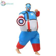 Adult Captain America Inflatable Costume Halloween Costumes for Men Marvel Superhero Cosplay Carnival Party