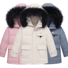 -30 Degrees Winter Jacket For Boys Hooded Warm Children Boys Down Jacket For Girls 5-14 Years Teenagers Coat Parka For Girls цена 2017