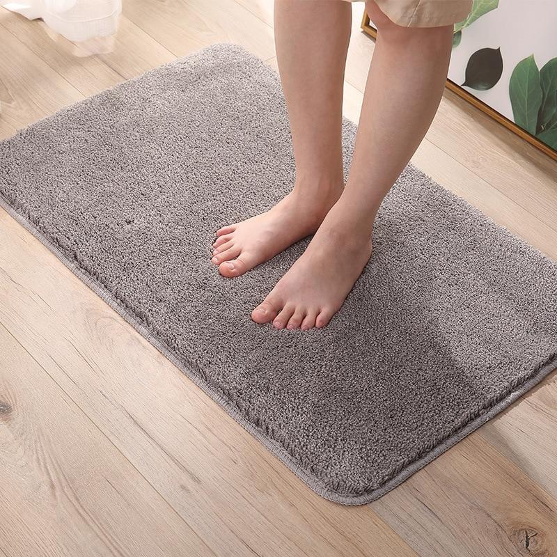 Grande taille tapis de salle de bain tapis antidérapant salle de bain tapis de bain polaire tapis de bain toilette forte Absorption tapis salle de bain