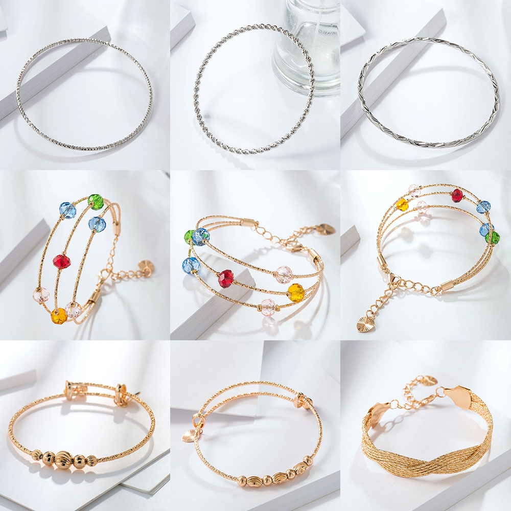 Viennois Women Bracelet & Bangles  Fashion Gold Color Trendy Wedding Party Jewelry