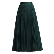 Женская плиссированная юбка Классическая Повседневная Толстая
