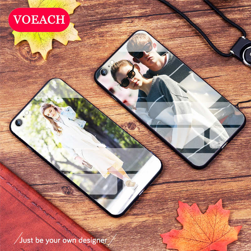 Custom Personalized Phone Case Tempered Glass For iPhone 6 7 8Plus X 11 Pro XS MAX XR 2019 Cover Customized Silicone Case Design