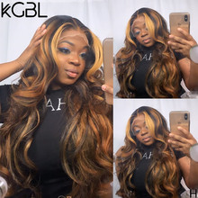 "KGBL 360 Wave Lace Front Human Hair Wig With Baby Hair 250 Density 8""-24""Brazilian Non-Remy Medium ratio For Black Women(China)"