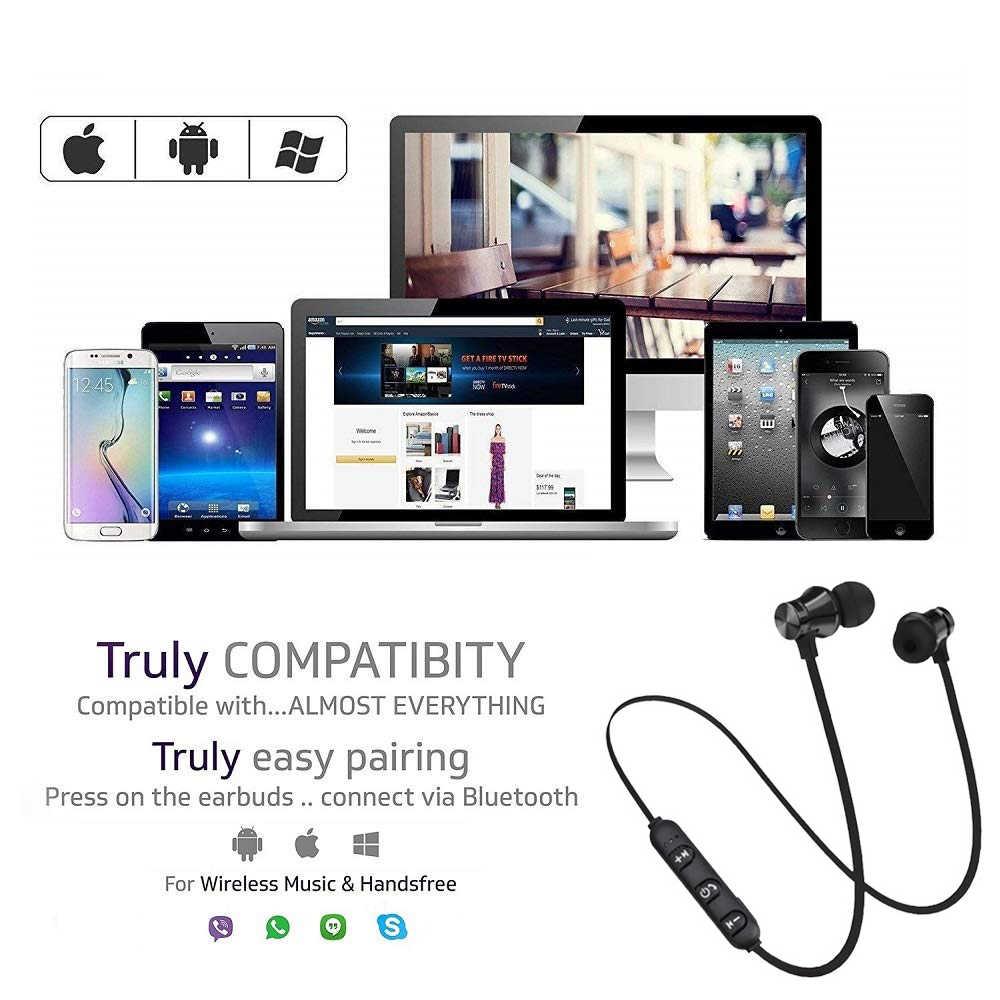 Auriculares magnéticos inalámbricos bluetooth XT11 auriculares de música banda para el cuello auriculares deportivos con micrófono para iPhone Samsung Xiaomi