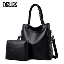 DIZHIGE Brand Luxury 2PCS/Set PU Women Shoulder Bag Large Capacity Crossbody For Solid High Quality Messenger Bags New