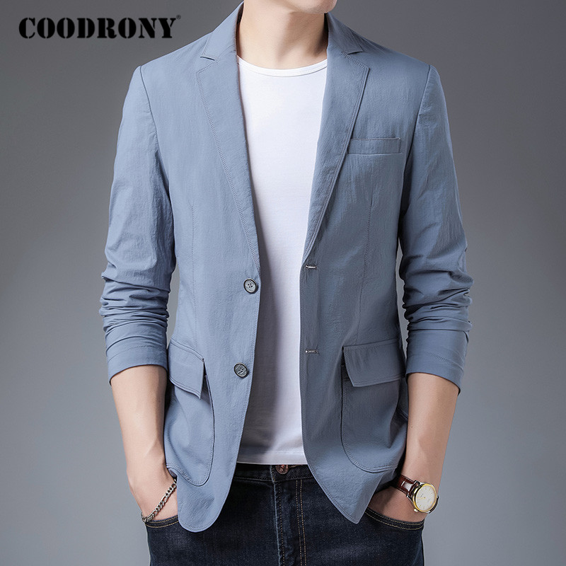 COODRONY Brand Mens Top Fashion Casual Suit Coat 2020 Autumn New Arrival Blazer Men High Quality Winter Man Dress Clothing C8025 1