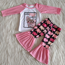 Pants Outfit Clothing-Sets Bell-Bottomed Baby-Girls Boutique Kids Children Fashionable