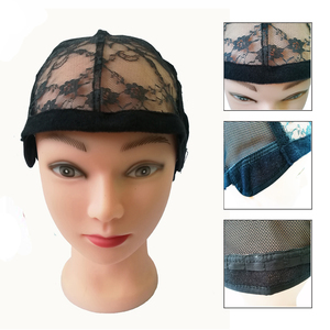Image 5 - 10pcs/lot Weaving Net Wig Caps For Making Wigs Medium Size 22 inch Adjustable Lace Wig Cap Black Weaving Net Dome Cap