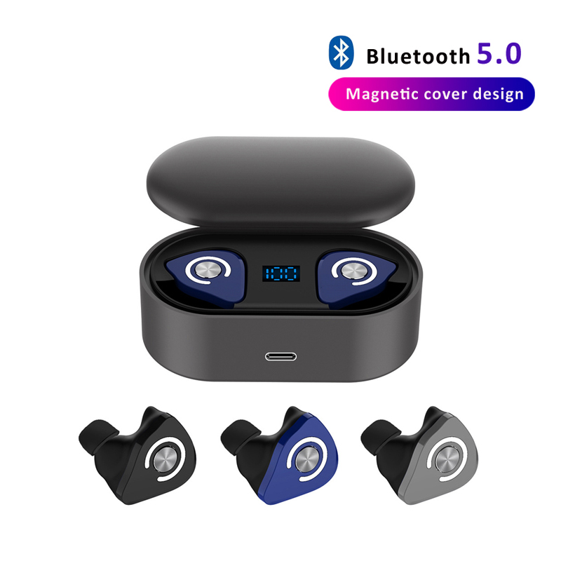 <font><b>M9</b></font> <font><b>TWS</b></font> Bluetooth Earphone Wireless Headphones 8D Stereo True Wireless Earbuds Sports HiFi Bass Headset with Dual Microphone image