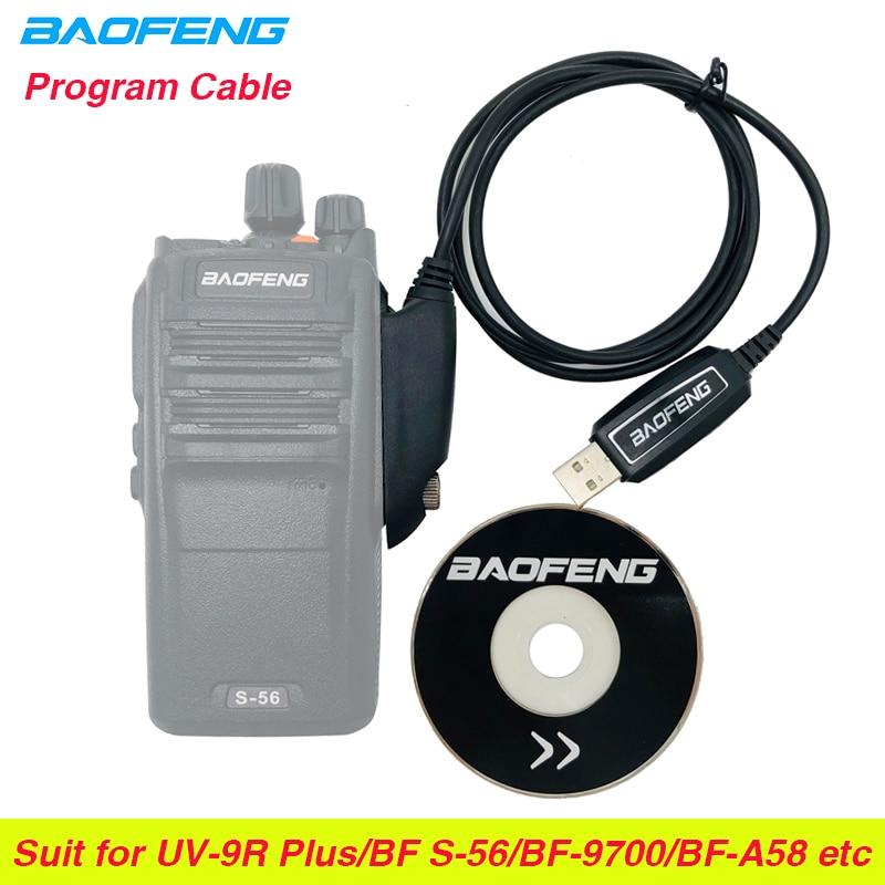 Baofeng Waterproof USB Programming Cable Driver CD For Walkie Talkie UV-9R BF-9700 UV-XR A-58 UV9R Plus GT-3WP Two Way Radio