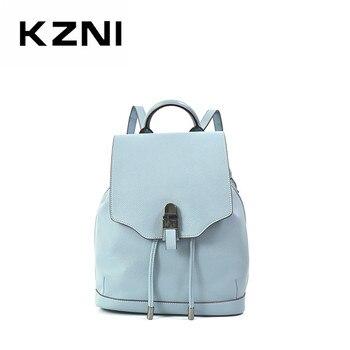 KZNI Women Bag  Genuine Leather Purse Crossbody tote bag Shoulder Clutch Female Handbags Sac a Main Femme De Marque 9305