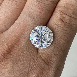 Moissanite en vrac cultivée diamant 12mm D couleur 6 ct VVS1 excellente coupe Moissanite en vrac pierre pour bague de mode