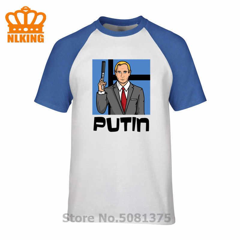 Fashion Pria T Shirt Vladimir Putin Archer Zona Bahaya T-shirt Mens Fashion Brand T Kemeja O-Leher 100% Katun Hombre tshirt