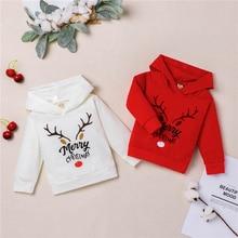 Christmas-Hoodies Xmas Sweatshirts Baby-Boys-Girls Kids Toddler Hooded Cotton Long-Sleeve