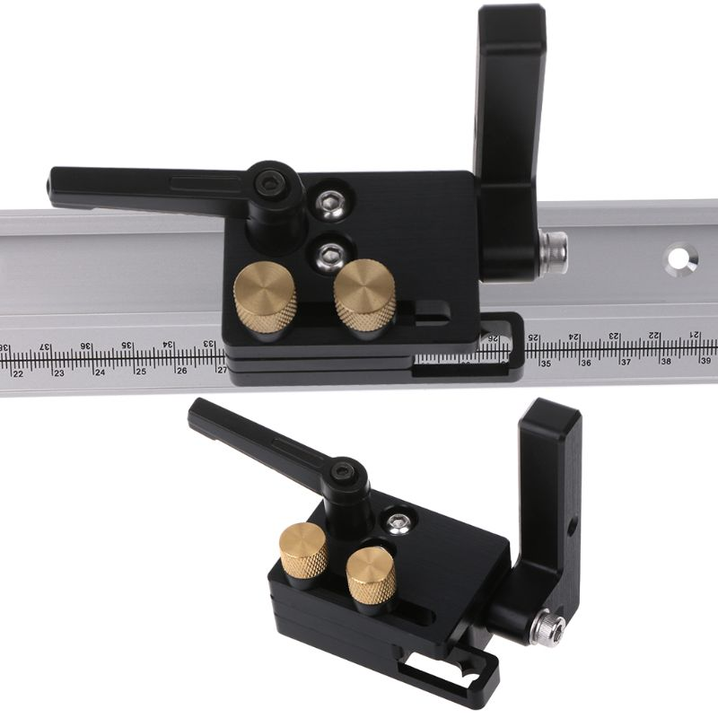 DIY Woodworking Tools Miter Flip Track Stop For T-Slot 45mm T-Track With Adjustable Scale Manual Durable In Use