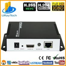 مشفر فيديو بث مباشر من HEVC MPEG4 HDMI إلى IP H.264 RTMP مشفر HDMI مشفر IPTV H.265 مع HLS HTTP RTSP UDP RTMP SRT