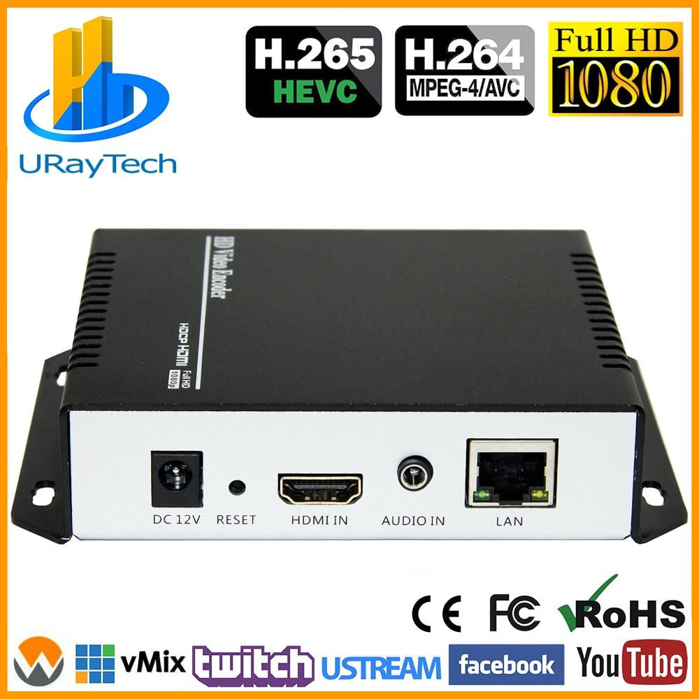 Кодировщик HEVC MPEG4 HDMI-IP для прямой трансляции видео, кодировщик H.264 RTMP, кодировщик HDMI IPTV H.265 с HLS HTTP RTSP UDP RTMPS SRT